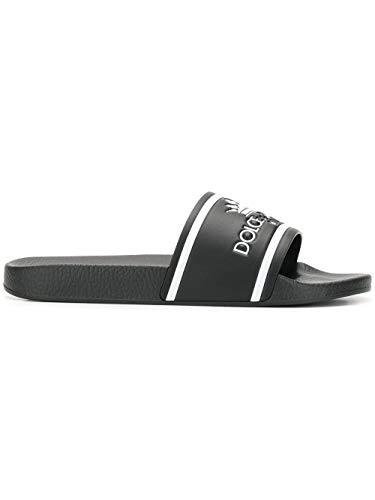 Men Dolce Gabbana Sandals - Dolce e Gabbana Men's Cs1630au679hnr18 Black PVC Sandals