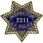 Metal Lapel Pin - Law Enforcement Pin - Police Badge - San Francisco, CA Inspector