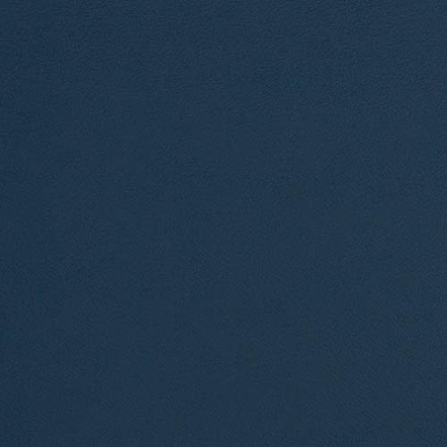 (Pacific Dark Blue Leather Grain Plain Solid Vinyl Bacteria and Mildew Resistant Performance Grade Fade Resistant Upholstery Fabric by the yard)