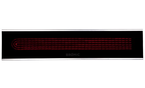 Bromic Heating BH0320005 Platinum Smart-Heat – 50″ 3400W Electric Outdoor Patio Heater, Black Finish