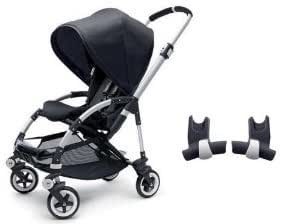 Bugaboo Bee Stroller WITH Maxi-Cosi Carseat Adapter (Black)