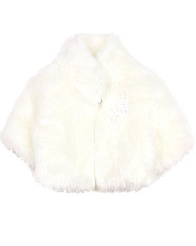 Biscotti Girls' Wishful Thinking Faux Fur Jacket Cream, Sizes 4-16 - 4