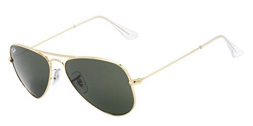 (Ray-Ban Small Aviator Sunglasses (Gold Frames & G-15XLT Lenses))