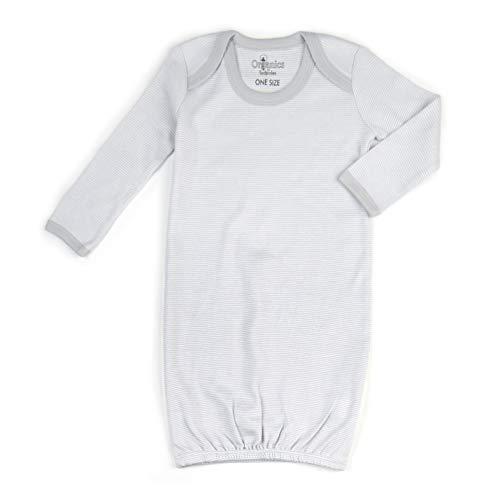 Tadpoles Organic Cotton Sleep Gown, 0-6 Months, Gray
