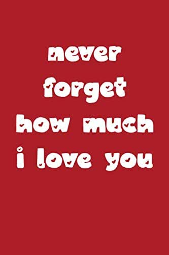 Never forget how much i love you Notebook Journal 6x9 120 Pages: lovely Lined Paper Notebook,Personal use, School, Home, College, Love Heart gifts for ... Lovers, wife, Husband. (Love you Journals)