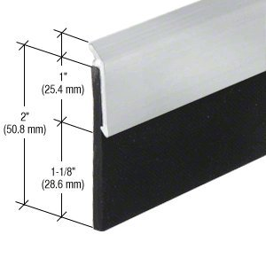 CRL Aluminum Finish Heavy-Duty Door Sweep 32''