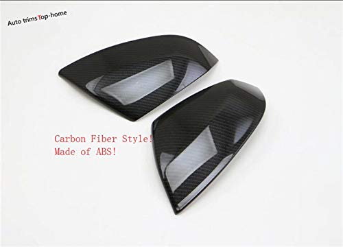 Yimaautotrims Exterior Side Door Rearview Mirror Decoration Cover Trim/Bright/Carbon Fiber Style For Audi Q5 2018 2019 -