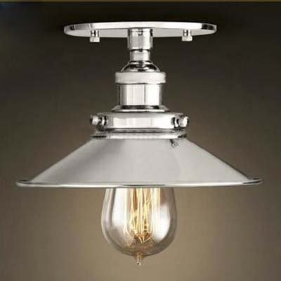 various colors 2cf46 ad69c BAYCHEER Semi-Flush Mount Lamp 22cm E27 Celling Light Kitchen Lamp Ceiling  Fixture Industrial Lighting Polished Chrome