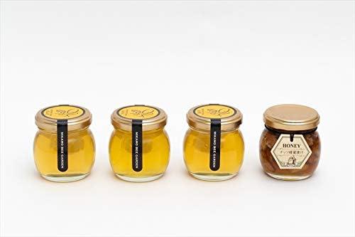 【国産純粋ハチミツ・養蜂園直送】みかん蜂蜜 百花蜂蜜 山ざくら ナッツ蜂蜜漬 各100g