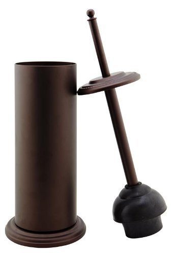 Bath Bliss Toilet Plunger With Holder, Rustic Bronze, 6.5x18.5 by Kennedy