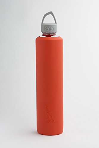 Sleeve and Lid for 800 ml VOSS Glass Bottle (Sriracha and Gray) (800 Ml Bottle)