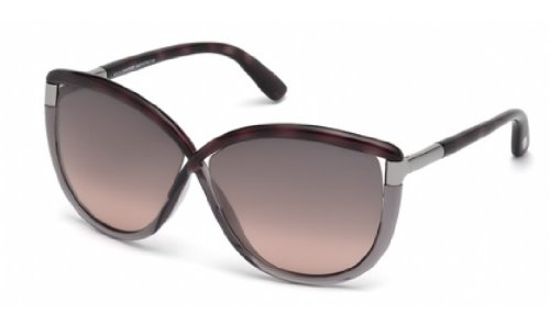 bee694db1e172 Tom Ford Sunglasses TF 327 Abbey Sunglasses 56B Transparent brown and  transparent grey 63mm - Buy Online in UAE.