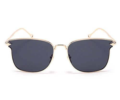 Heartisan Oversized Color Flash Mirror Full Rimmed Arrow Frame Fashion Sunglasses - Cream Frames Colored Eyeglass