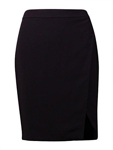 Ralph Lauren Stretch Wrap - Lauren Ralph Lauren Womens Crepe Faux Wrap Pencil Skirt Black 14
