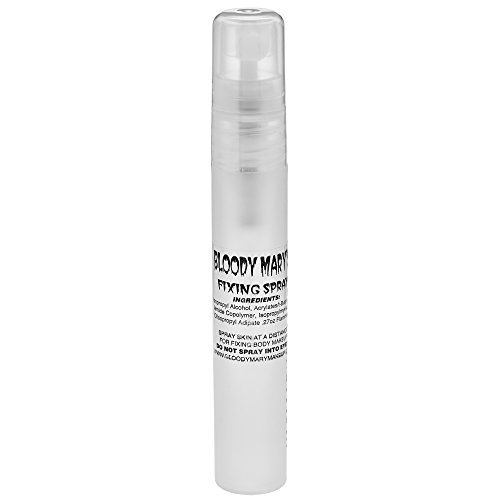Bloody Mary Makeup Setting Spray - Long Lasting Fixing Sealer for Face and Costume Make Up, Foundation, Mascara, Lipstick - Prevents Cracking and Running from Sweat, Tears and Moisture - 8ml