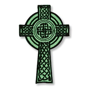 Celtic Irish Cross Embroidered Applique Patch Sticker -Show Your Heritage