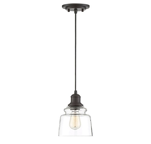 Trade Winds Lighting TW70048ORB Industrial Edison Insulator Style Hanging Mini Pendant Light, 100 Watts, in Oil Rubbed Bronze ()