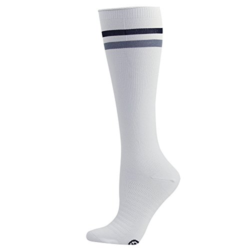 Compression Soccer Socks, Gmark Unisex Moderate (15 20mmHg) Graduated Stripes Athletic Socks 1,2,3,6 Pairs