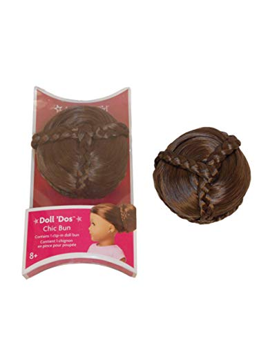 American Girl MY AG Chic Bun - Brown for 18