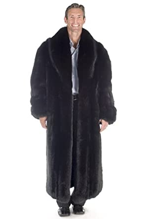 Amazon.com: Mens Fur Coat - Black Fox: Clothing
