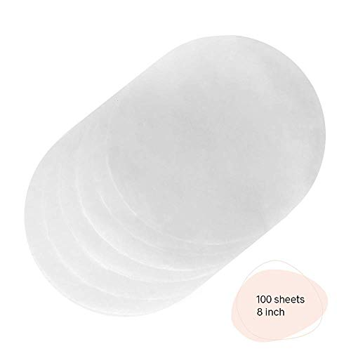 KANA Parchment Paper Baking Circles - 100 Pre-Cut Round Parchment Sheets for Baking Cakes, Cooking, Cookies, Cookies, Pastries, Dutch Oven, Air Fryer, Cheesecakes, Tortilla Press (8 inch)