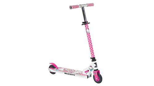 Hello Kitty Scooter - New Hello Kitty 2 wheel inline Metal Folding scooter for kid children girl