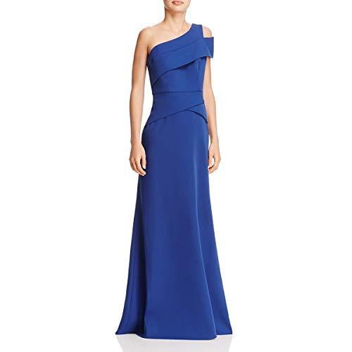 BCBG Max Azria Womens Annely One-Shoulder Evening Formal Dress Blue 12