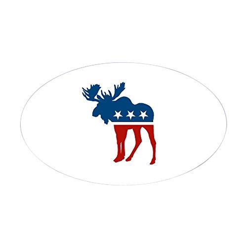 CafePress - Sarah Palin Moose Oval Sticker - Oval Bumper Sticker, Euro Oval Car - Palin Stickers Bumper Sarah