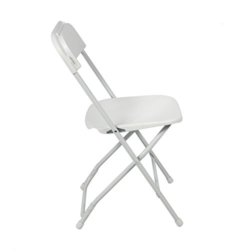 best choice products 5 commercial white plastic folding chairs stackable wedding party event. Black Bedroom Furniture Sets. Home Design Ideas