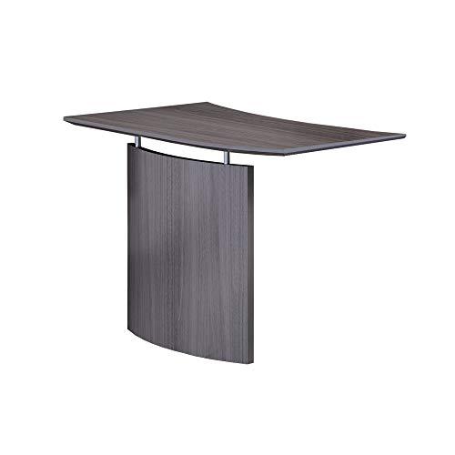 Mayline MNBDGRLGS Desk, Gray Steel Laminate