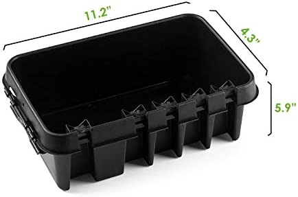 Small Black Weatherproof Indoor and Outdoor Electrical Power Cord Connection Enclosure Box SockitboX