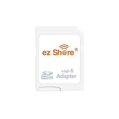 (ez Share Card Adapter WiFi SDHC Card Class10 SD Card Wireless Camera Memory Card for Camera Canon Samsung Sony FUJIFILM CASIO Nikon Panasonic PENTAX Olympus (Card Adapter))