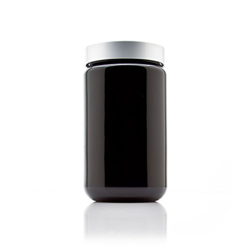 (Infinity Jars Silver Collection 400 ml (13.5 fl oz) Tall Black Ultraviolet Screw Top Jar)