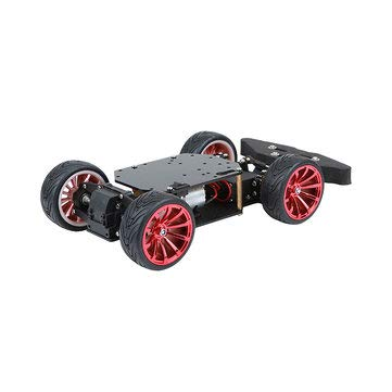 6-12V 4-Wheel Chassis Smart Robot Car With Motor & MG996R Servo for - Arduino Compatible SCM & DIY Kits Smart Robot & Solar Panel - 1 x 4-Wheel Chassis Arduino Car