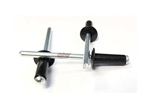 Racer's Speed Shop Black 3/16 Small Head Aluminum Steel Mandrel Pop Rivets 50 ct Racing - Steel Rivets Aluminum