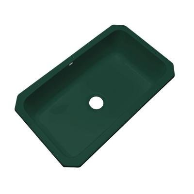 Manhattan Undermount Acrylic 33x19.5x9 0-Hole Single Bowl Kitchen Sink in Timberline - Manhattan Undermount Acrylic