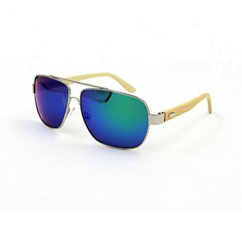 YOUBAN Natural Bamboo Glasses Sunglasses For Men - 100% UV Blocking - Good Sunglasses Wood