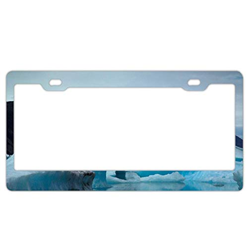 Customized License Plate Frame Stainless Steel Metal Car Tag Cover Holder Auto Car for Us Standard 2 Hole and Screws