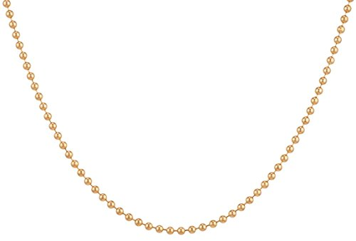 14Kt Gold-Filled Ball Chain Necklace 1 mm (Ball Pendant 14kt Gold Jewelry)