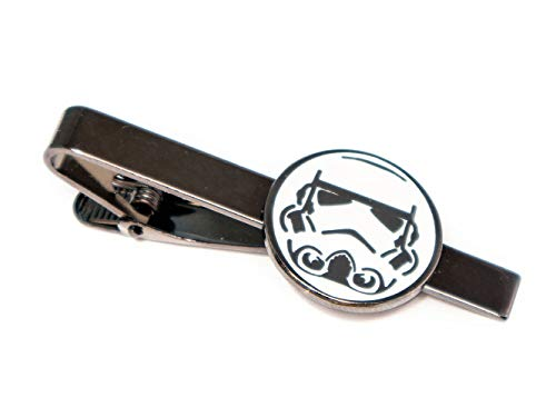 Stormtrooper Tie Clip, Star Wars Cufflinks, Jedi Tie Tack Jewelry, Darth Vader Cuff Links, Kylo Darth Maul Death Star Gift, Star Wars Captain Phasma Wedding Party Groomsman Gifts