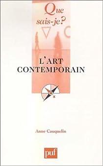 L'art contemporain par Cauquelin
