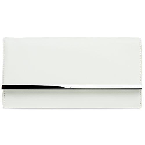 CASPAR Fashion - Cartera de mano para mujer Weiß