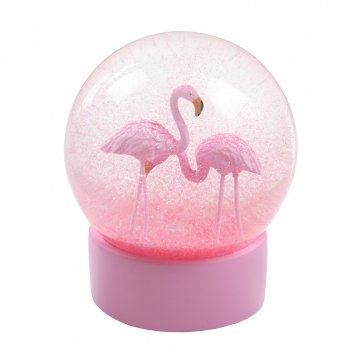 Fun Flamingo Snow Globe
