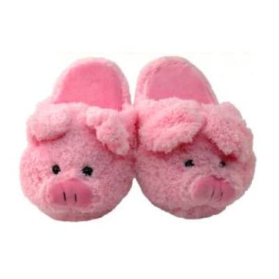 kreative kids 2217 pink pig slippers kids size 11 12 free activity