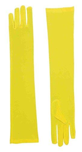 Forum Novelties Women's Long Nylon Yellow Gloves