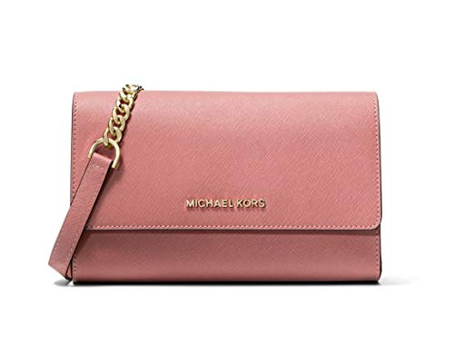 Michael Kors Saffiano Leather 3-in-1 Crossbody with Removable Card Pouch - Rose