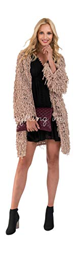 e Chenille Yarn Loop Cardigan Coat Sweater One Size ()