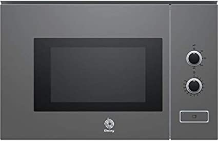 Balay 3CP5002A0 - Microondas integrable / encastre, 800 W, 20 L, color gris