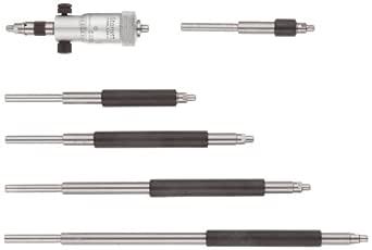 "Starrett 124AZ Solid-Rod Vernier Inside Micrometers Set, 2-8"" Range, 0.001"" Graduation, +/-0.0001"" Accuracy, With Case"
