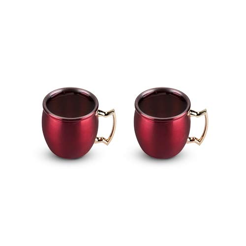 Metal Moscow Mule Mug Holiday Red Shot Set Cocktail Moscow Mule - Set Of 6 (Sold by Case, Pack of 6)